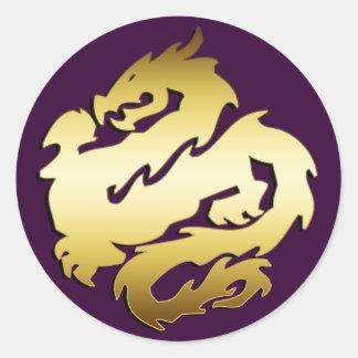 GOLDEN DRAGON CLASSIC ROUND STICKER