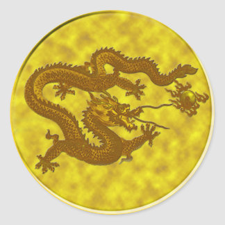 Golden Dragon Coin Sticker #1