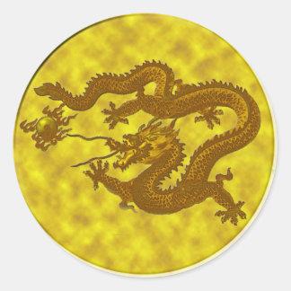Golden Dragon Coin Sticker #2