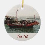 Golden Dragon Ferry Hong Kong Ceramic Ornament