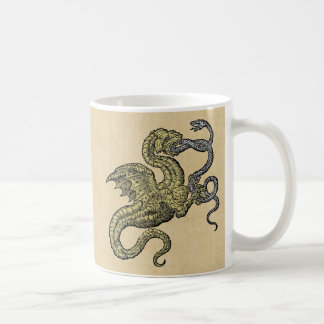 Golden Dragon Fighting Silver Snake Coffee Mug