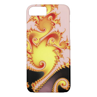 Golden Dragon Fine Fractal Abstract Art iPhone 7 Case