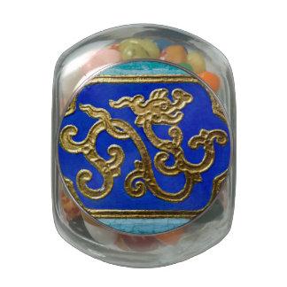 Golden Dragon Glass Jars