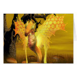 Golden Dragon Greeting Card