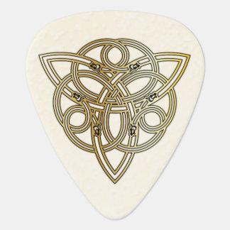 Golden Dragon Headed Celtic Tri-Quatra Guitar Pick