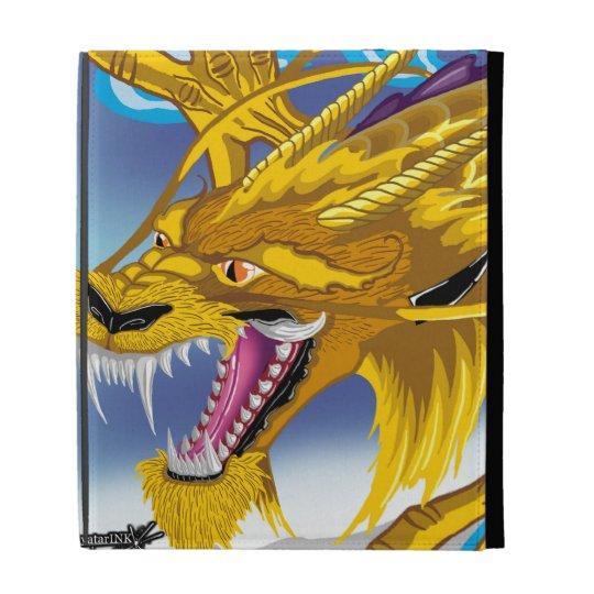 Golden Dragon iPad Folio iPad Cases