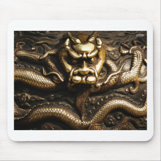 GOLDEN DRAGON MOUSE PADS