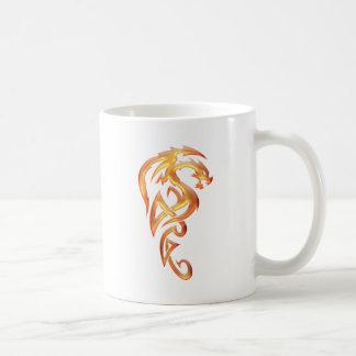 Golden Dragon Classic White Coffee Mug