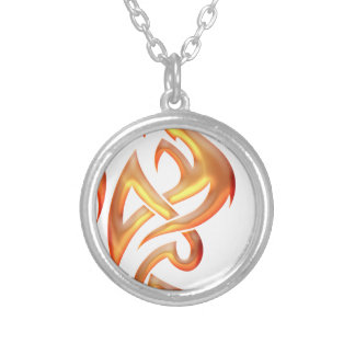Golden Dragon Round Pendant Necklace