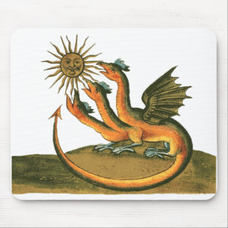 Golden Dragon of Alchemy Mouse Pad