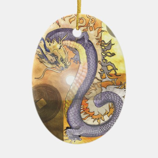 Golden Dragon~ornament Ceramic Ornament