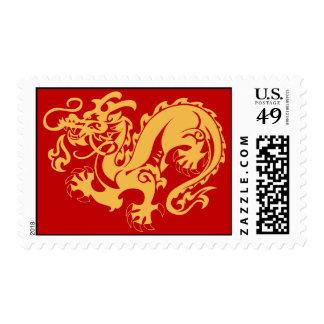 Golden Dragon Postage Stamp