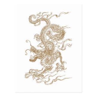 Golden Dragon Postcard