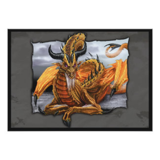 Golden Dragon Poster