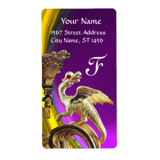 GOLDEN DRAGON PURPLE AMETHYST Monogram Label
