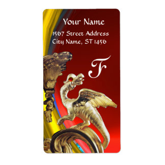 GOLDEN DRAGON RED RUBY Monogram Label