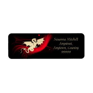 Golden Dragon Return Address Label