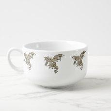 Golden Dragon Soup Mug