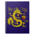 Golden Dragon Spiral Note Books