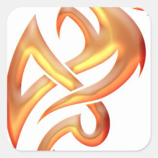 Golden Dragon Square Sticker