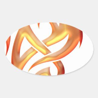 Golden Dragon Oval Sticker