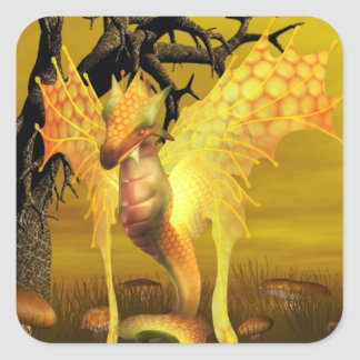 Golden Dragon Stickers