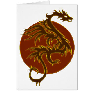 Golden Dragon Sun | make your own background Card