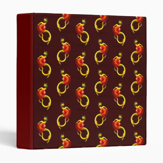 Golden Dragon With Big Red Heart Binder