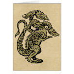 Golden Dragon with Three Heads Cards