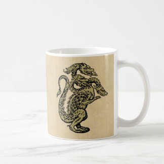 Golden Dragon with Three Heads Coffee Mug