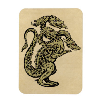 Golden Dragon with Three Heads Magnet