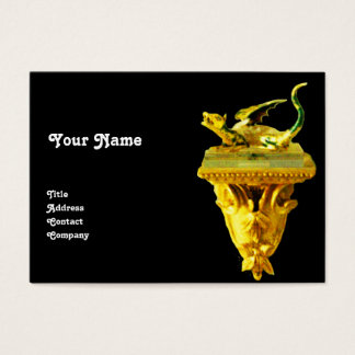 GOLDEN DRAGON ,yellow black green Business Card