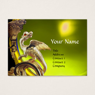 GOLDEN DRAGON YELLOW TOPAZ  Monogram Business Card