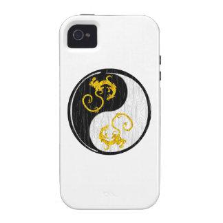 Golden Dragon Yin Yang Case-Mate iPhone 4 Cases