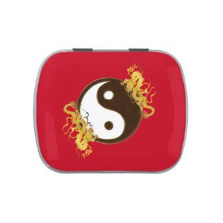 Golden Dragon Yin Yang Jelly Belly Tins