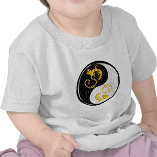 Golden Dragon Yin Yang Tshirt