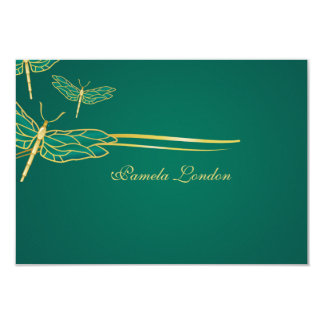 Golden Dragonflies Thank You Notes Card