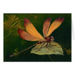 Golden Dragonfly 2 - Customize Greeting Card