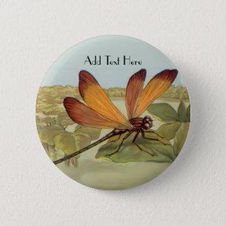 Golden Dragonfly Button