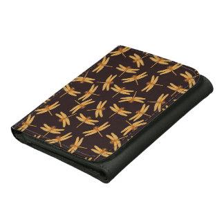 Golden Dragonfly Design Wallet