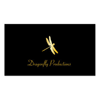 Golden Dragonfly Double-Sided Standard Business Cards (Pack Of 100)
