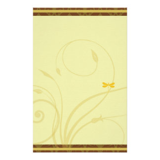 Golden Dragonfly Flourish Stationary Stationery