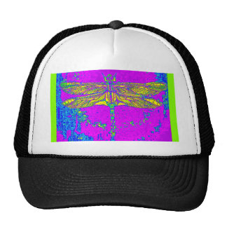 Golden Dragonfly- Green Purple Gifts by Sharles Mesh Hat