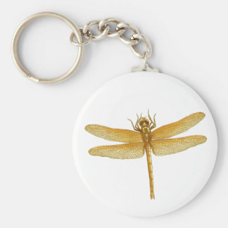 Golden Dragonfly Keychain