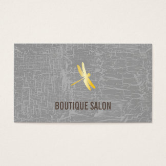 Golden Dragonfly / Marbled Gray Business Card