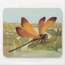 Golden Dragonfly Mouse Pad