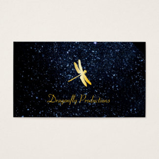 Golden Dragonfly / Night Sky Business Card