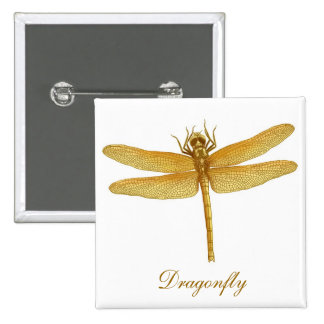 Golden Dragonfly Pin