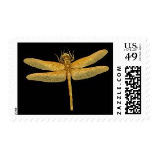 Golden Dragonfly Postage