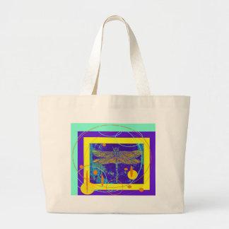Golden Dragonfly Purple Design by Sharles Tote Bag